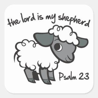 主は私の羊飼いです スクエアシール