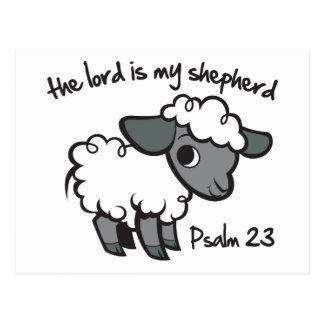 主は私の羊飼いです ポストカード