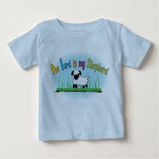 主は私の羊飼いのクリスチャンの子供のTシャツです ベビーTシャツ