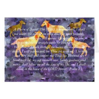 主は私の羊飼いカードです カード