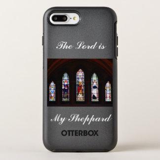 主は私のSheppardのステンドグラスの電話箱です オッターボックスシンメトリーiPhone 8 Plus/7 Plusケース