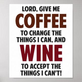 主は、私にコーヒーおよびワインを与えます ポスター