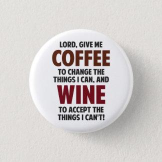 主は、私にコーヒーおよびワインを与えます 3.2CM 丸型バッジ