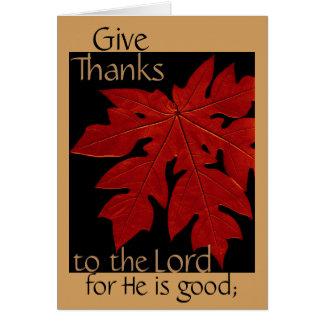 主へのThanksgiving Prayer Card感謝を与えて下さい カード