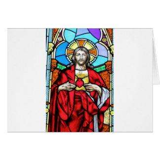 主イエス・キリストのステンドグラス窓 カード