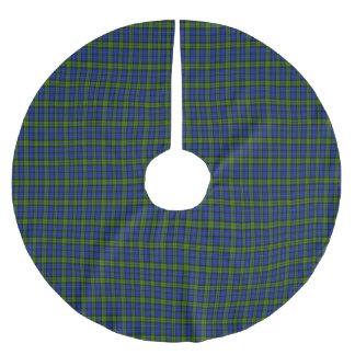 主スコットランドのタータンチェック ブラッシュドポリエステルツリースカート