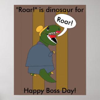 主任の日のTレックスの恐竜(メス) ポスター