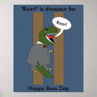 主任の日のTRexの恐竜(男性) ポスター