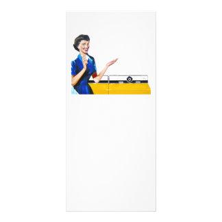主婦および新しい洗濯機 ラックカード