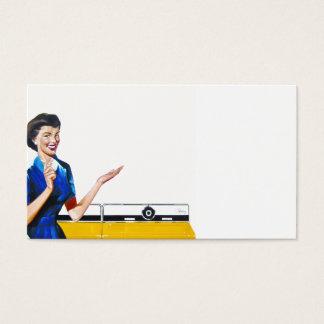 主婦および新しい洗濯機 名刺