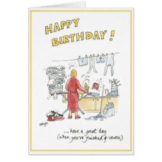 主婦のためのユーモアのあるな漫画のバースデー・カード カード