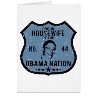 主婦のオバマの国家 カード