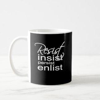 主張します主張します入隊しますヒラリーの信念を抵抗して下さい コーヒーマグカップ