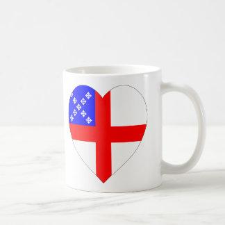 主教旗のハート コーヒーマグカップ