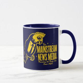 主流のマスコミのマグ マグカップ