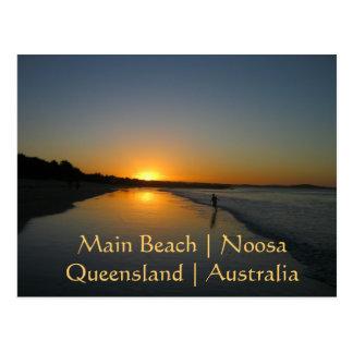 主要なビーチ、Noosaのクイーンズランド、オーストラリア郵便はがき ポストカード