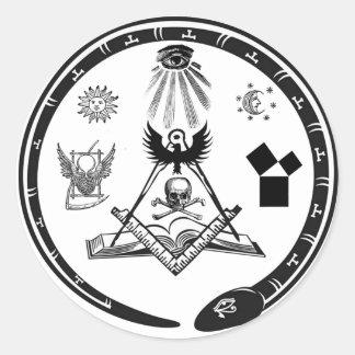 主要なロゴのステッカー ラウンドシール