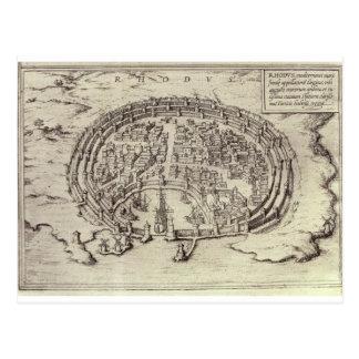 「主要な町の劇場からのローデスの眺め、 ポストカード