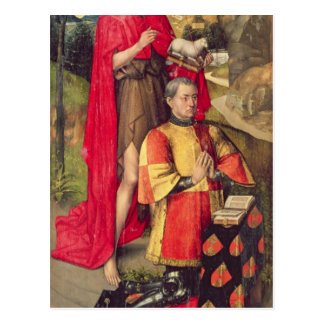 主要な祭壇のpolyptychからの左のパネル、 ポストカード