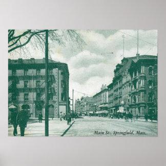 主要なSt.、スプリングフィールドのMAの1905年のヴィンテージ ポスター