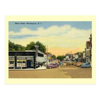 主要なSt.、Manasquanのニュージャージーのヴィンテージ ポストカード
