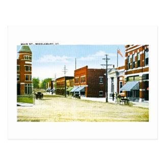 主要なSt.、Middlebury、VT ポストカード
