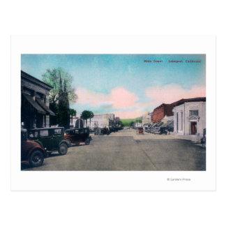 主要なStreetLakeport、カリフォルニアの眺め ポストカード
