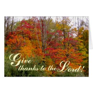 主-キリスト教の挨拶状への感謝を与えて下さい カード
