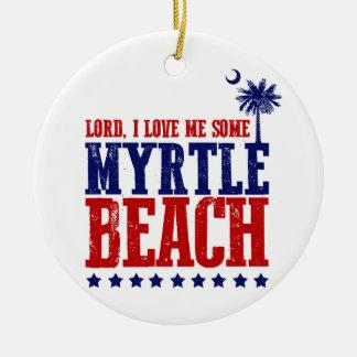 主、私は私をMyrtle Beach愛します セラミックオーナメント
