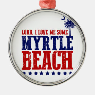 主、私は私をMyrtle Beach愛します メタルオーナメント