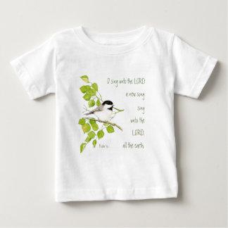主、聖なる書物、経典及び鳥に新しい歌を歌って下さい ベビーTシャツ