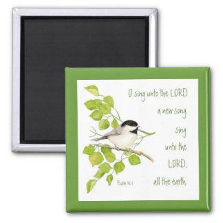 主、聖なる書物、経典及び鳥に新しい歌を歌って下さい マグネット