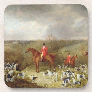 主Glamisおよび彼のStaghounds 1823年(canvaの油 コースター