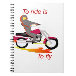 乗ることは飛ぶことです ノートブック