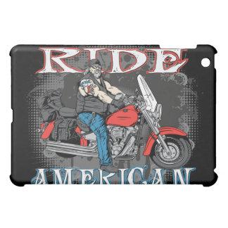 乗車のアメリカ人のオートバイ iPad MINI カバー