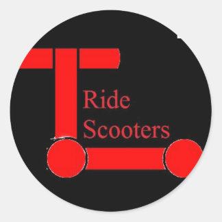 乗車スクーターのステッカー ラウンドシール