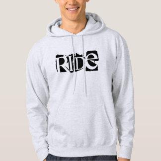 """""""乗車""""の黒いSledders.comのフード付きスウェットシャツ パーカ"""