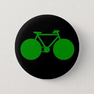 乗車。 自転車の緑の態度 缶バッジ