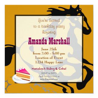 乗馬およびケーキの誕生会 カード
