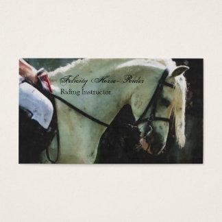 乗馬のインストラクターの名刺 名刺