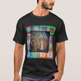 乗馬のエリザベス女王一世 Tシャツ