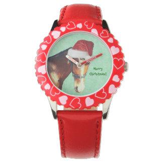 乗馬のクリスマス 腕時計