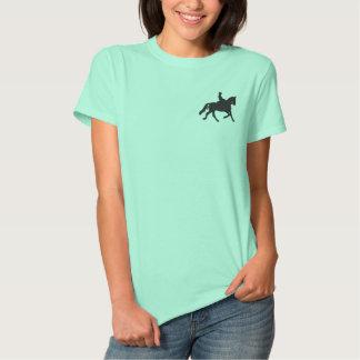 乗馬のシルエット 刺繍入りTシャツ