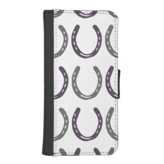 乗馬のテーマの馬はパターンに蹄鉄を打ちます iPhoneSE/5/5sウォレットケース