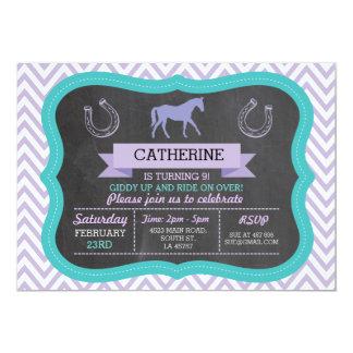 乗馬のパーティの招待の子馬の招待状の招待 カード
