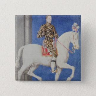 乗馬のポートレートのDauphinアンリーII 5.1cm 正方形バッジ