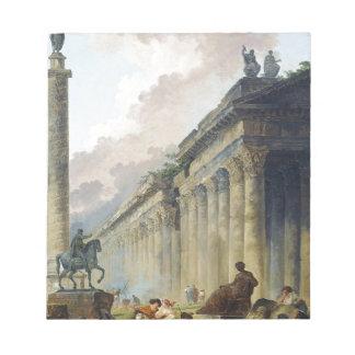 乗馬の彫像が付いているローマの想像眺め ノートパッド