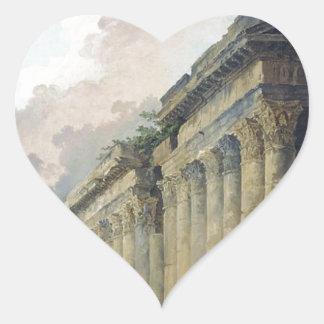 乗馬の彫像が付いているローマの想像眺め ハートシール
