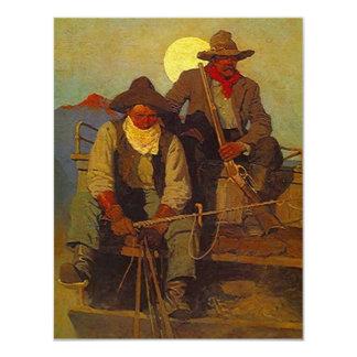 乗馬の散弾銃の西部の招待状の退職または カード