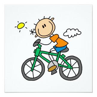 乗馬の自転車-男性 カード